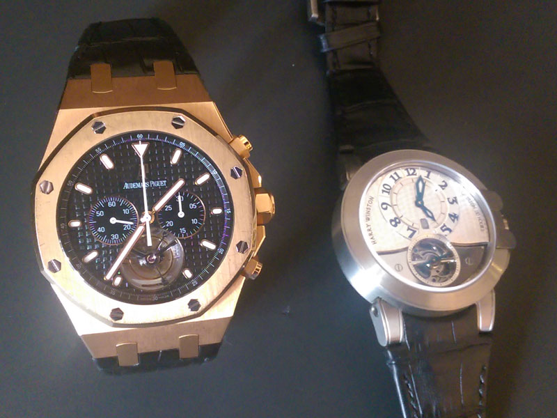 Audemars Piguet and Harry Winston tourbillion