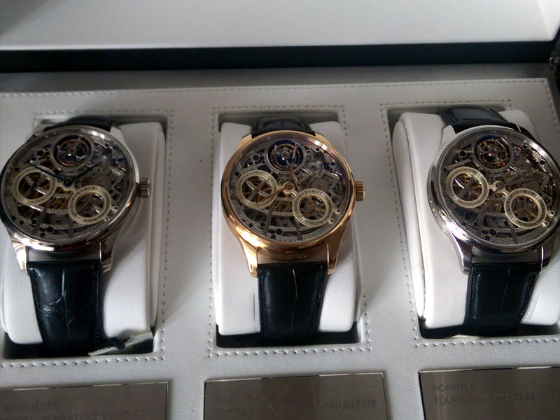 All new IWC set tourbilion limited - white and rose gold, platinum